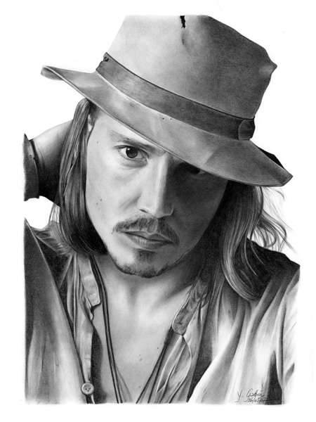 Yannick l 39 art du dessin welovebuzz - Dessin johnny depp ...