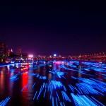 La rivière Sumida tout en lumière à Tokyo