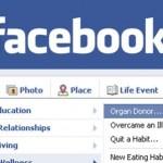 Facebook lance le statut «donneur d'organes»