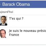 Quand Hollande parle avec Sarkozy sur Facebook