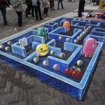 Le jeu Pac-Man en Street Painting