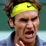Quand Roger Federer s'énerve sur un court de Tennis
