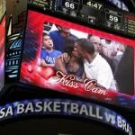 Michelle et Barack Obama sur la Kiss-Cam