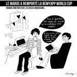 Illustration : Le Maroc remporte la coupe du monde