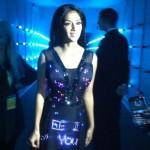 Nicole Scherzinger dans une robe Twitter
