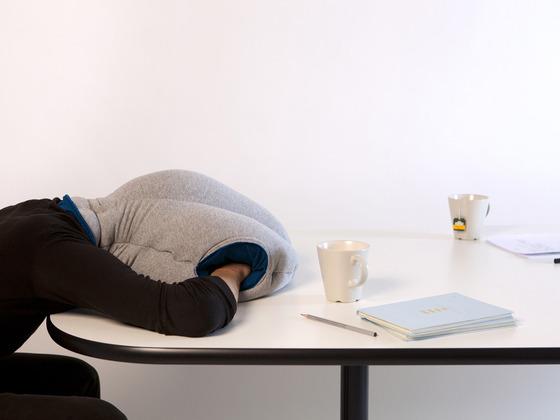 """Le """"ostrich pillow"""" ou """"oreiller autruche"""", 80 euros"""
