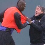 Bagarre entre Mancini et son attaquant Mario Balotelli