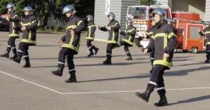 Flashmob des pompiers nuitons de St-Georges