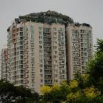 Un riche chinois construit une villa sur le toit d'un immeuble