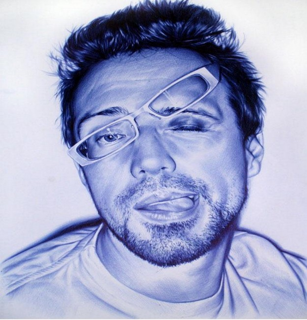 Bic Pen Painting by Juan Francisco Casas