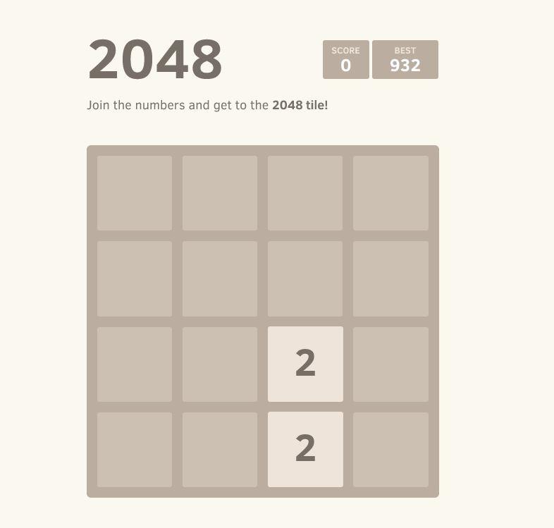 2048 begining