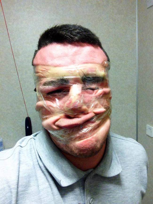 The new Facebook craze sellotape selfies. Source: Facebook