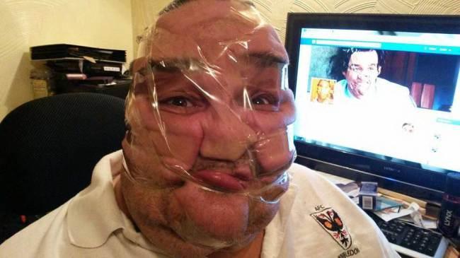 The new Facebook craze sellotape selfies. Source: Facebook
