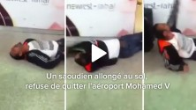 Un saoudien allongé au sol, refuse de quitter l'aéroport Mohamed V