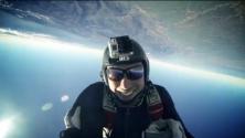 Vue aérienne du Maroc en parachute