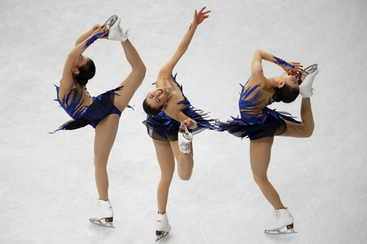 Japan's Asada competes during the women's free program at the ISU World Figure Skating Championships in Saitama