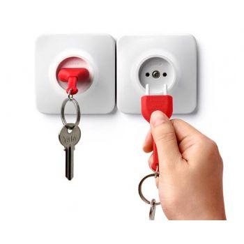 porte-clef-fausse-prise-original-qualy-design-rouge