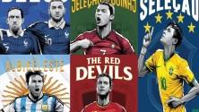 Illustrations et posters des 32 équipes de la Coupe du Monde