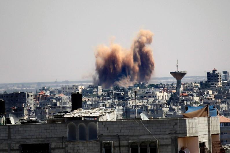Un raid de l'armée israélienne sur Rafah, dans la bande de Gaza
