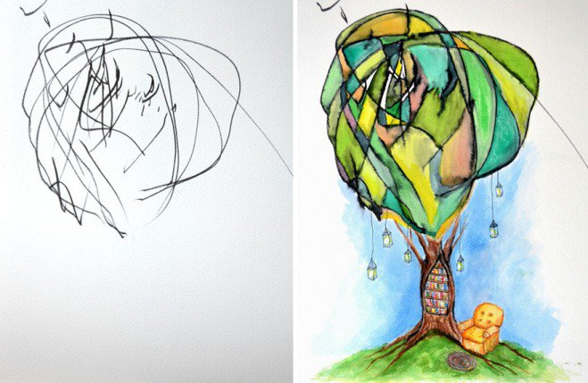 artist-turns-childrens-drawings-into-paintings-2-659x429