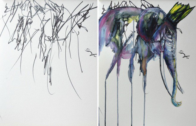 artist-turns-her-two-year-olds-sketches-into-paintings-5-659x425