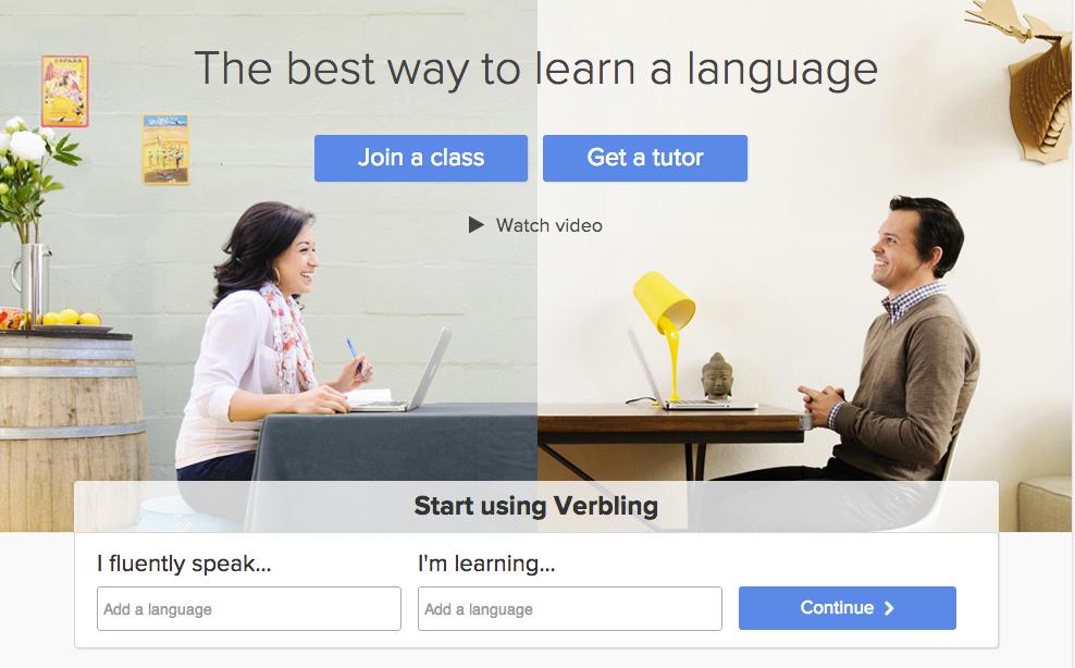 verbling-homepage-screenshot
