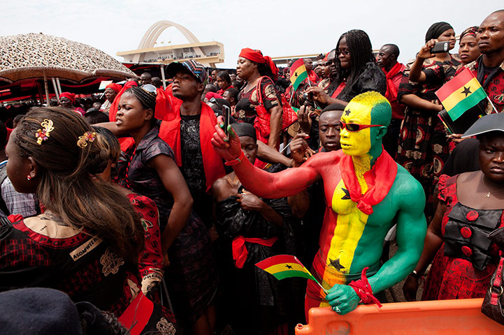 Ghana's late leader Mills buried as nation mourns