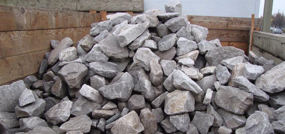 Basalt wall rock