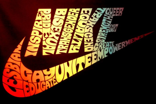 LGBT support Nike logo