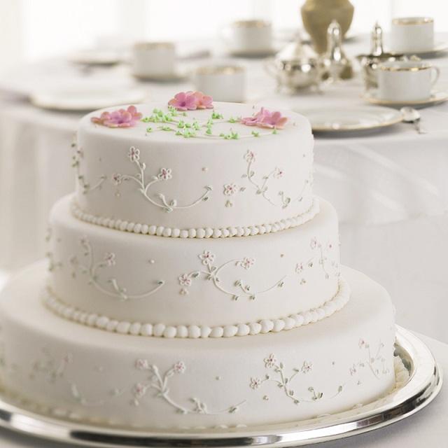 La gâteau de mariage