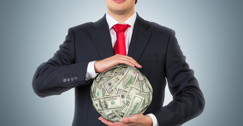 Businessman and money ball 2