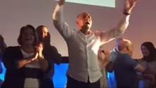 Quand Salahedine Mezouar danse en plein meeting