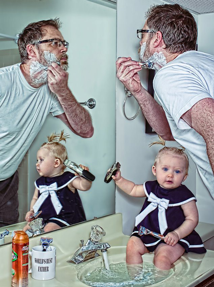 cool-best-father-baby-funny-photography-chicquero-morning-shave