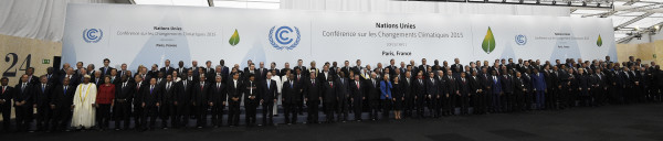 "World leaders pose for a family photo during the COP21, United Nations Climate Change Conference, in Le Bourget, outside Paris, on November 30, 2015. More than 150 world leaders are meeting under heightened security, for the 21st Session of the Conference of the Parties to the United Nations Framework Convention on Climate Change (COP21/CMP11), also known as ""Paris 2015"" from November 30 to December 11. AFP PHOTO / POOL / MARTIN BUREAU / AFP / POOL / MARTIN BUREAU"