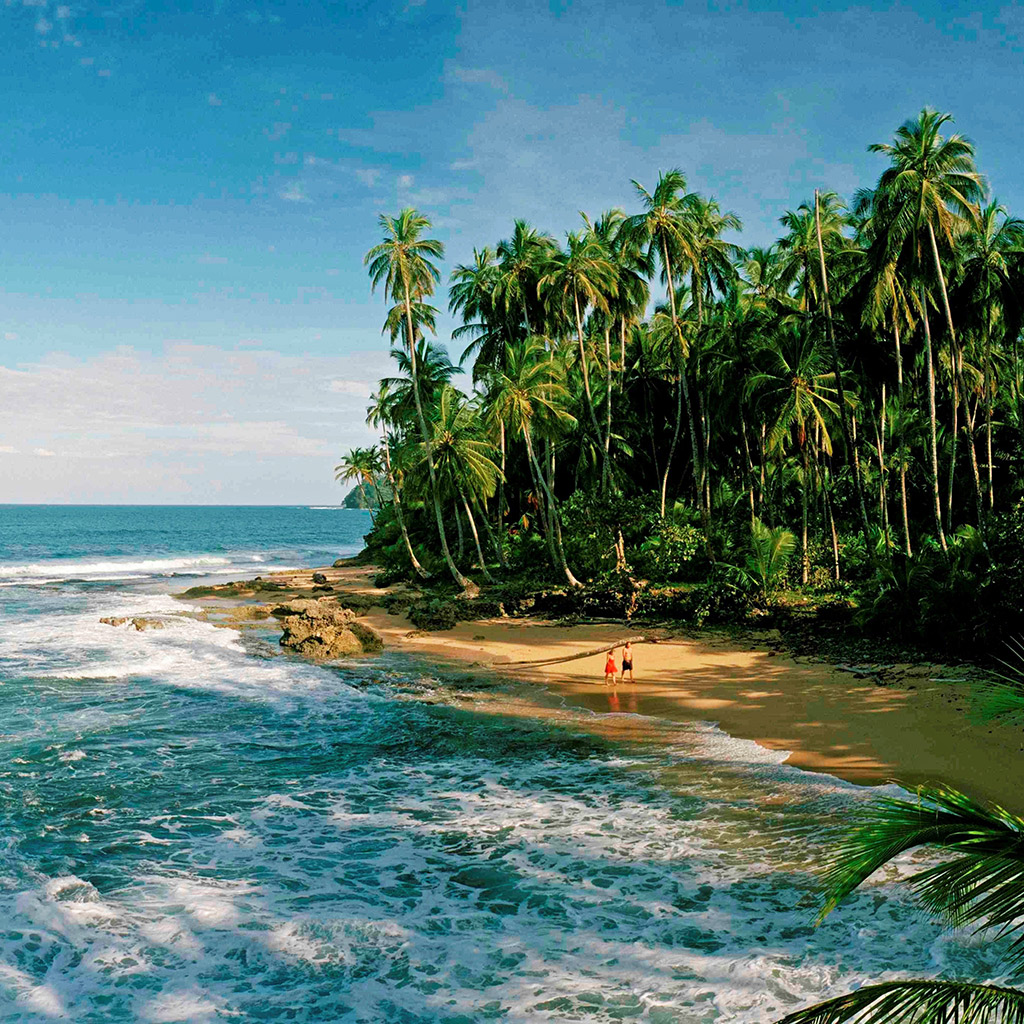 D0DJ7D Manzanillo, Costa Rica; Caribbean Coast beach, below Puerto Viejo