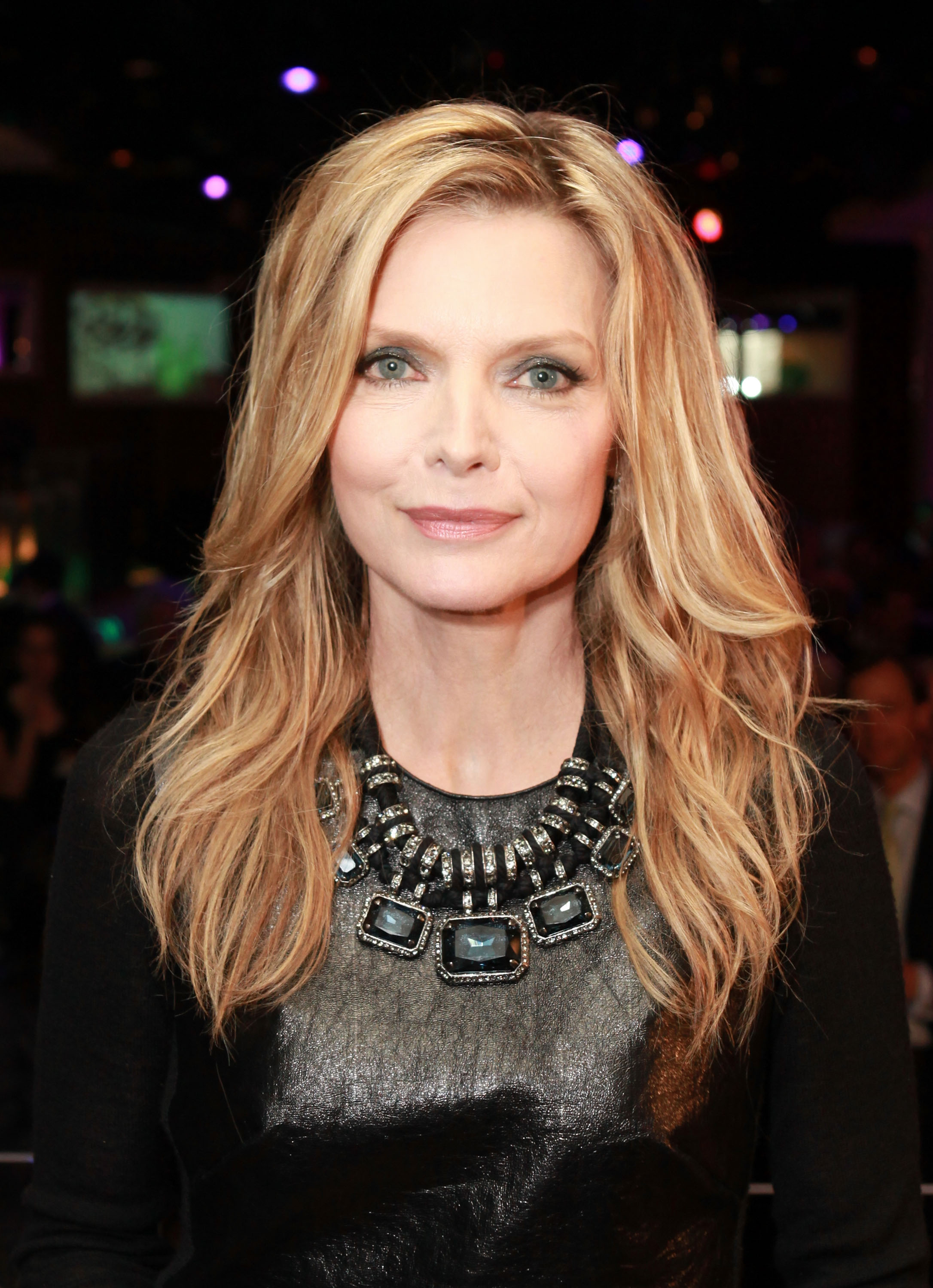 LAS VEGAS, NV - APRIL 26: Actress Michelle Pfeiffer, recipient of the Cinema Icon Award, attends the CinemaCon awards ceremony at the Pure Nightclub at Caesars Palace during CinemaCon, the official convention of the National Association of Theatre Owners, April 26, 2012 in Las Vegas, Nevada. (Photo by Ryan Miller/Getty Images)