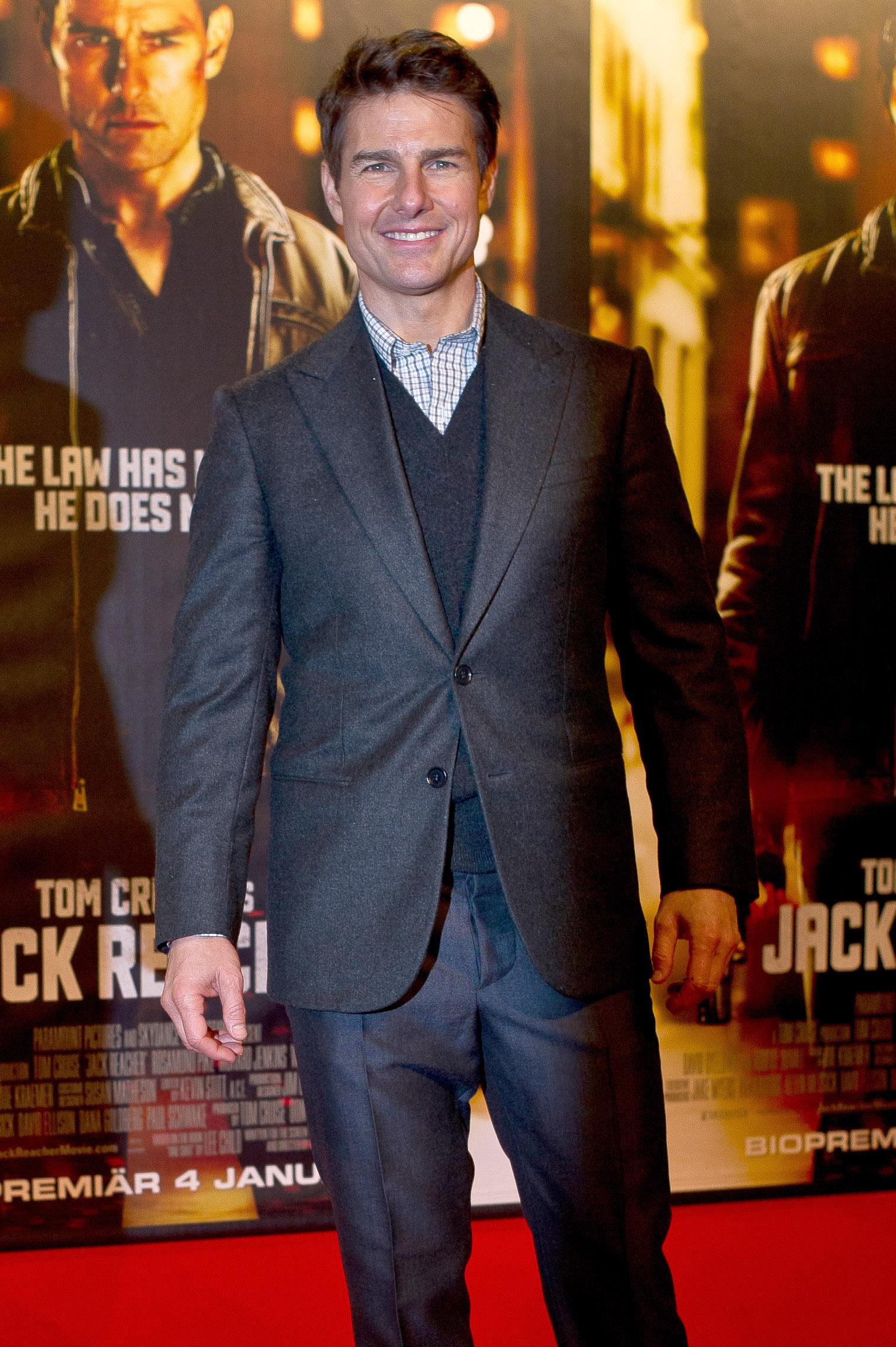 STOCKHOLM, SWEDEN - DECEMBER 11: Tom Cruise attends the Swedish Premiere of 'Jack Reacher' at Multiplex Sergel on December 11, 2012 in Stockholm, Sweden. (Photo by Ivan da Silva/Getty Images)