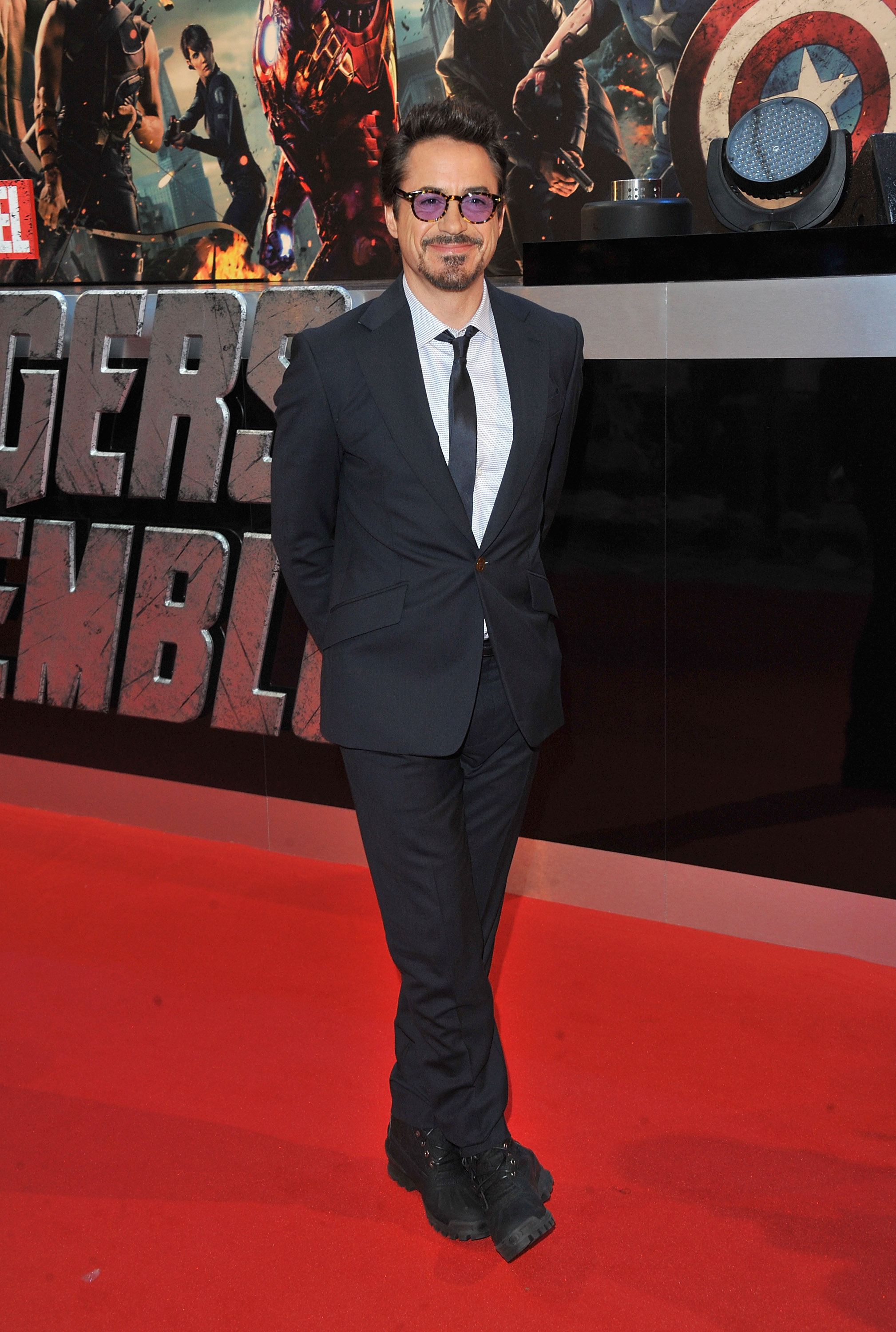 "LONDON, ENGLAND - APRIL 19: Actor Robert Downey Jr attends the European Premiere of Marvel Studios' ""Marvel's Avengers Assemble"" held at the Vue Westfield on April 19, 2012 in London, England. (Photo by Jon Furniss/WireImage)"
