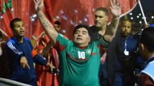 Maradona et Boca Juniors au complexe Mohammed V pour un match de gala