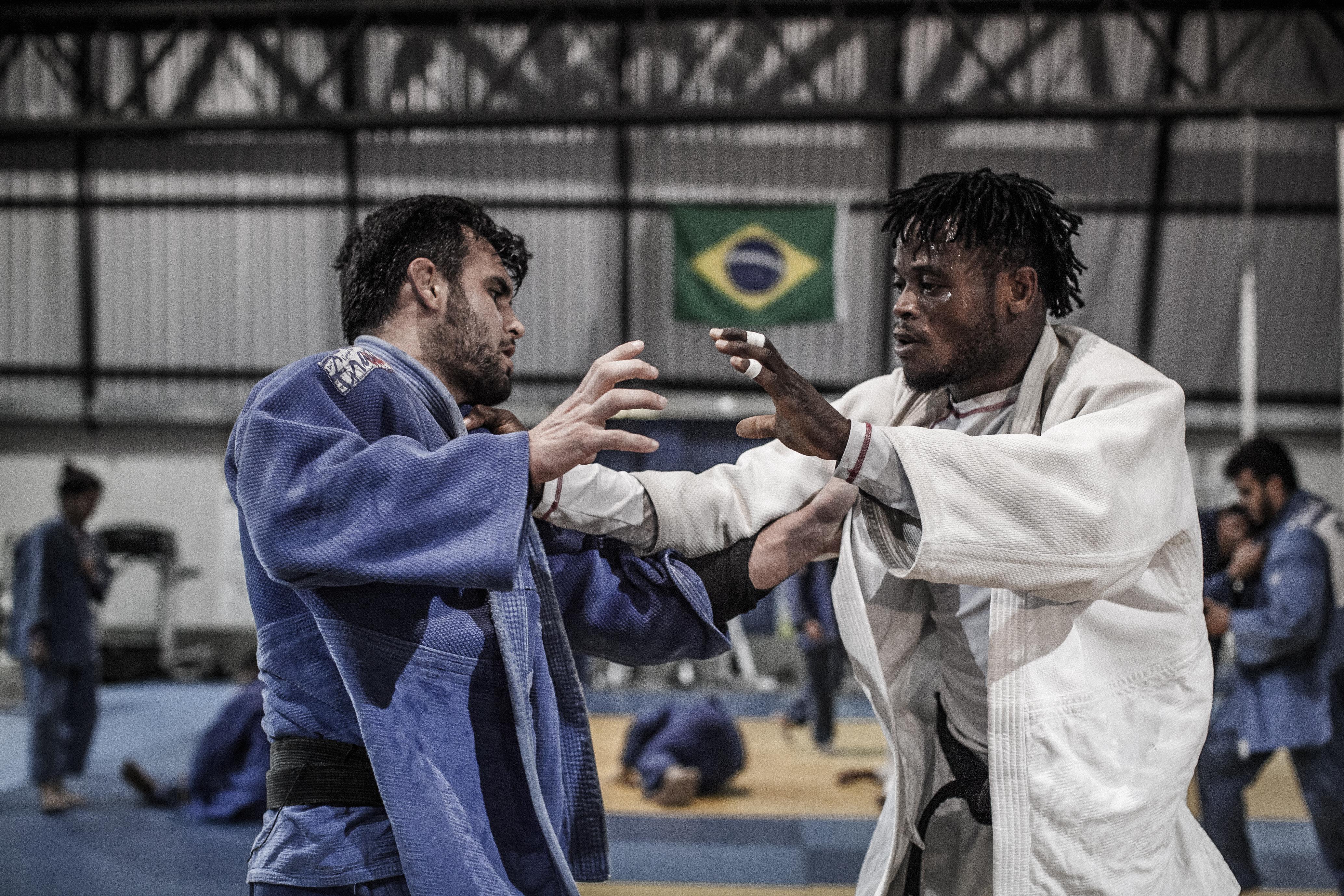 Brazil. Congolese judoka Popole Misenga trains for Rio 2016 Olympic Games