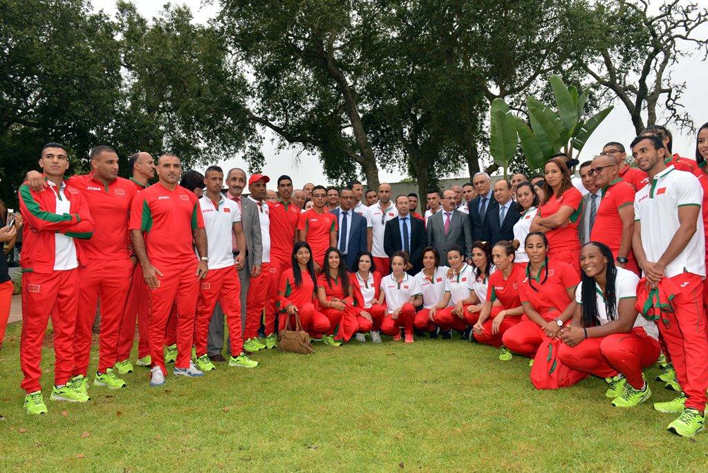 Cérémonie en l'honneur de la délégation marocaine participant aux JO-2016