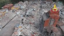 Filmé par un drone, voilà ce qui reste du village italien Amatrice après un fort séisme
