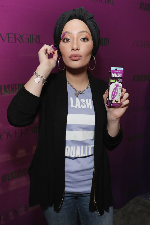 NEW YORK, NY - NOVEMBER 01: DJ, host, model and actress Amy Pham and beauty blogger Nura Afia (pictured) offer a sneak peek at the new COVERGIRL So Lashy mascara and commercial that promotes #LashEquality on November 1, 2016 in New York City. (Photo by Cindy Ord/Getty Images for COVERGIRL)