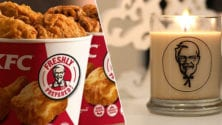 La bougie qui diffuse l'odeur du poulet frit de KFC est disponible
