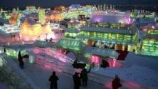Photos : Une ville entièrement en glace made in 'Frozen' à Harbin