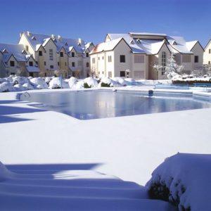 Dans un endroit avec de la neige