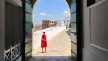 L'actrice britannique Kristin Scott Thomas en vacances à Tanger