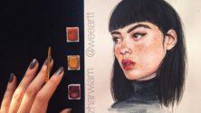À seulement 17 ans, cette jeune marocaine séduit la toile avec ses sublimes dessins