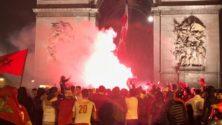 MAROC-CIV : L'euphorie des Marocains sur les Champs Elysées après le match