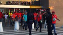 Vivez en images et en vidéo l'arrivée des premiers avions de supporters pour la match Côte d'Ivoire – Maroc